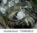 mixture of paints of different... | Shutterstock . vector #724843813