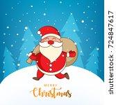 merry christmas  easy to edit ... | Shutterstock .eps vector #724847617