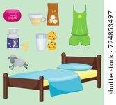 sleep icons vector illustration ... | Shutterstock .eps vector #724853497