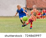 Kids soccer football   young...