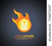 fireball letter m logo | Shutterstock .eps vector #724871047