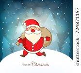 merry christmas  design... | Shutterstock .eps vector #724871197