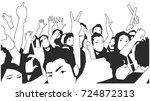 black and white illustration of ...   Shutterstock .eps vector #724872313