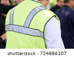 foreman oversee construction... | Shutterstock . vector #724886107