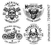 set of vintage emblems  logos ... | Shutterstock .eps vector #724894747