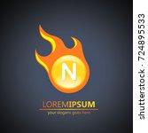 fireball letter n logo | Shutterstock .eps vector #724895533
