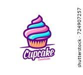 cupcake logo | Shutterstock .eps vector #724907257
