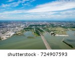 aerial photograph area on... | Shutterstock . vector #724907593