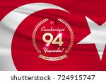 republic day of turkey national ... | Shutterstock .eps vector #724915747