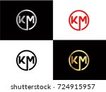 km text gold black silver... | Shutterstock .eps vector #724915957