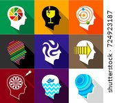 types of mind in man icons set. ... | Shutterstock . vector #724923187