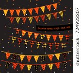 halloween triangle flags ... | Shutterstock .eps vector #724923307
