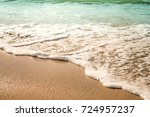 background soft wave of sea... | Shutterstock . vector #724957237