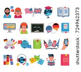 english and other languages... | Shutterstock .eps vector #724962373
