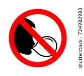 sign no chewing gum. vector... | Shutterstock .eps vector #724982983