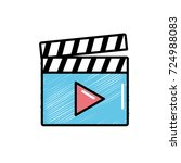 clapperboard with video movie... | Shutterstock .eps vector #724988083