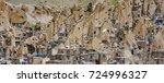 kandovan  manmade cliff... | Shutterstock . vector #724996327