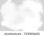 abstract halftone wave dotted... | Shutterstock .eps vector #725005603