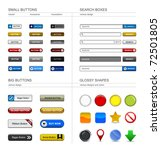 web design button element | Shutterstock .eps vector #72501805
