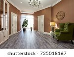 living room with a beautiful... | Shutterstock . vector #725018167