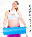 happy beautiful pregnant woman... | Shutterstock . vector #72502462