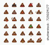 set of poo emoticon  emoji  ... | Shutterstock .eps vector #725029177