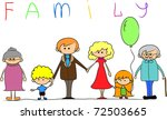 happy family holding hands hand ... | Shutterstock .eps vector #72503665