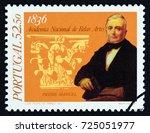 portugal   circa 1986  a stamp... | Shutterstock . vector #725051977