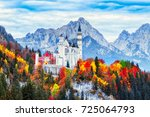 germany. classical view on... | Shutterstock . vector #725064793