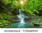 beautiful mountain rainforest... | Shutterstock . vector #725068543
