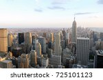 manhattan cityscape from a high ... | Shutterstock . vector #725101123