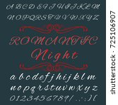 vector set of handwritten abc... | Shutterstock .eps vector #725106907