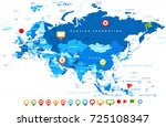 eurasia europa russia china... | Shutterstock .eps vector #725108347