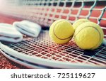 tennis game. tennis ball with... | Shutterstock . vector #725119627