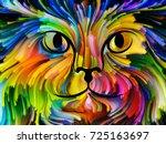 cat paint series. backdrop... | Shutterstock . vector #725163697