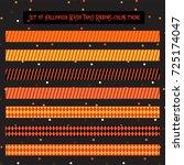 halloween scrapbook tape  washi ... | Shutterstock .eps vector #725174047