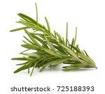 rosemary isolated on white... | Shutterstock . vector #725188393