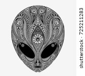 alien. vector head of an alien... | Shutterstock .eps vector #725211283