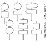 vector set of direction post