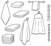 vector set of hand towel | Shutterstock .eps vector #725213233