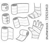 vector set of medical bandage | Shutterstock .eps vector #725213413