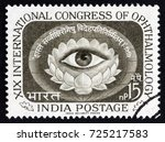 india   circa 1962  a stamp... | Shutterstock . vector #725217583