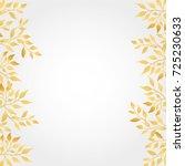 gold autumn leaves background | Shutterstock .eps vector #725230633