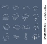 weather forecast   outline web... | Shutterstock .eps vector #725232367