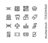 miscellaneous icon set of... | Shutterstock .eps vector #725234563