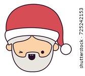 santa claus man kawaii face...   Shutterstock .eps vector #725242153