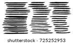 set of hand painted brush... | Shutterstock .eps vector #725252953