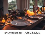 close up shot of christmas... | Shutterstock . vector #725253223