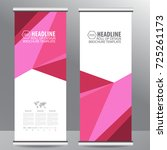 roll up business brochure flyer ... | Shutterstock .eps vector #725261173
