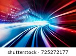 abstract motion speed railway... | Shutterstock . vector #725272177